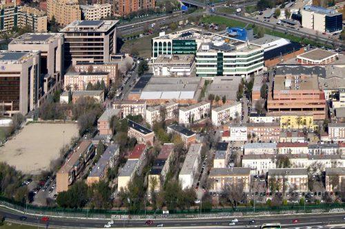 Vista aérea del barrio del Aeropuerto