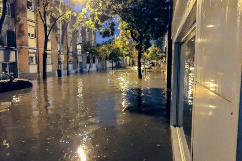 Inundación de la calle Pradoluengo