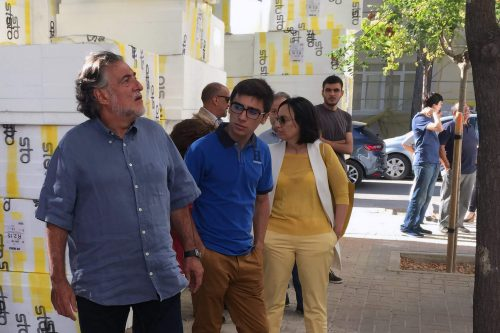 Pepu Hernández en el barrio del Aeropuerto