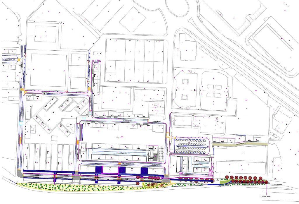 Plano de las obras de reurbanización