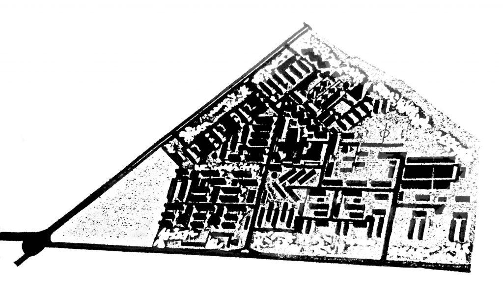 Maqueta del anteproyecto de Lebrato para el barrio del Aeropuerto