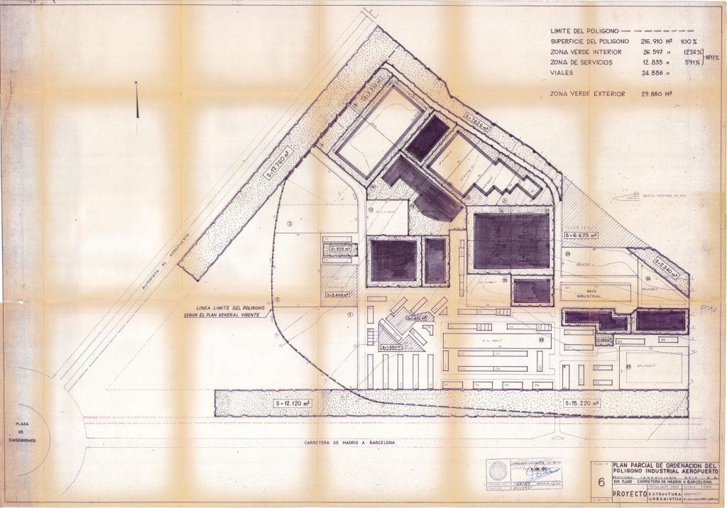 Planeamiento barrio Aeropuerto 1970