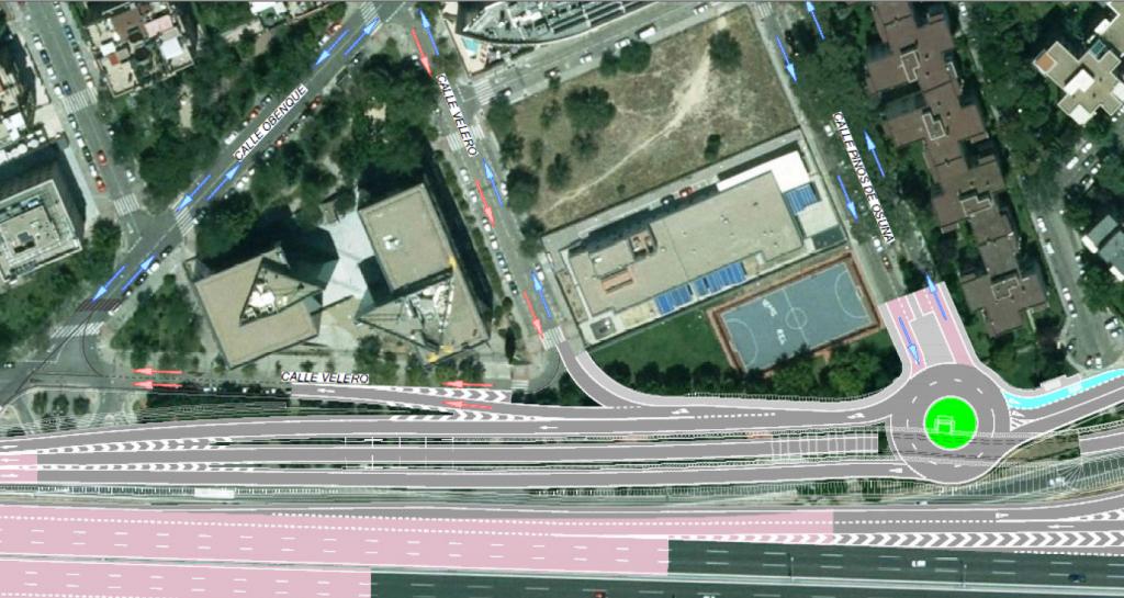 Remodelación del Nudo Eisenhower en la zona de la calle Pinos de Osuna