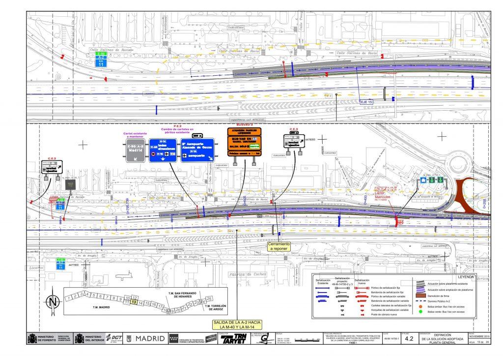 Conjunto de actuaciones para la implementación del Bus-VAO en las inmediaciones del barrio del Aeropuerto
