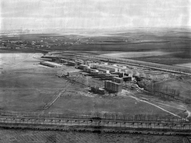 El barrio del Aeropuerto durante su construcción