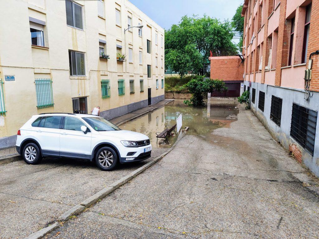 Inundación en la vaguada de la calle Garganchón
