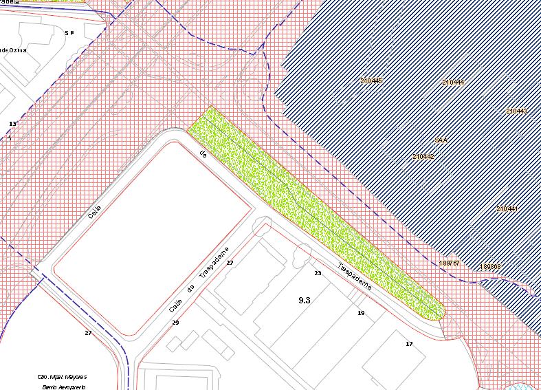 Porción calificada como zona verde