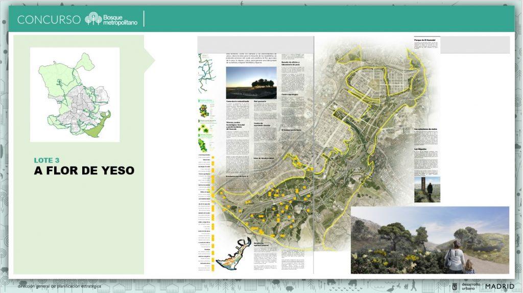 Propuesta ganadora del lote 3 del concurso de Bosque Metropolitano