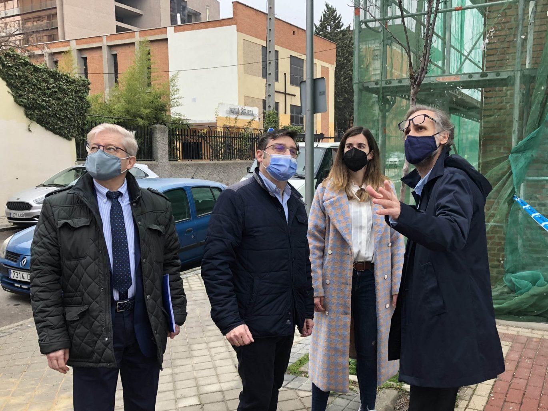 Acosta, González y Miranda visitan el barrio del Aeropuerto
