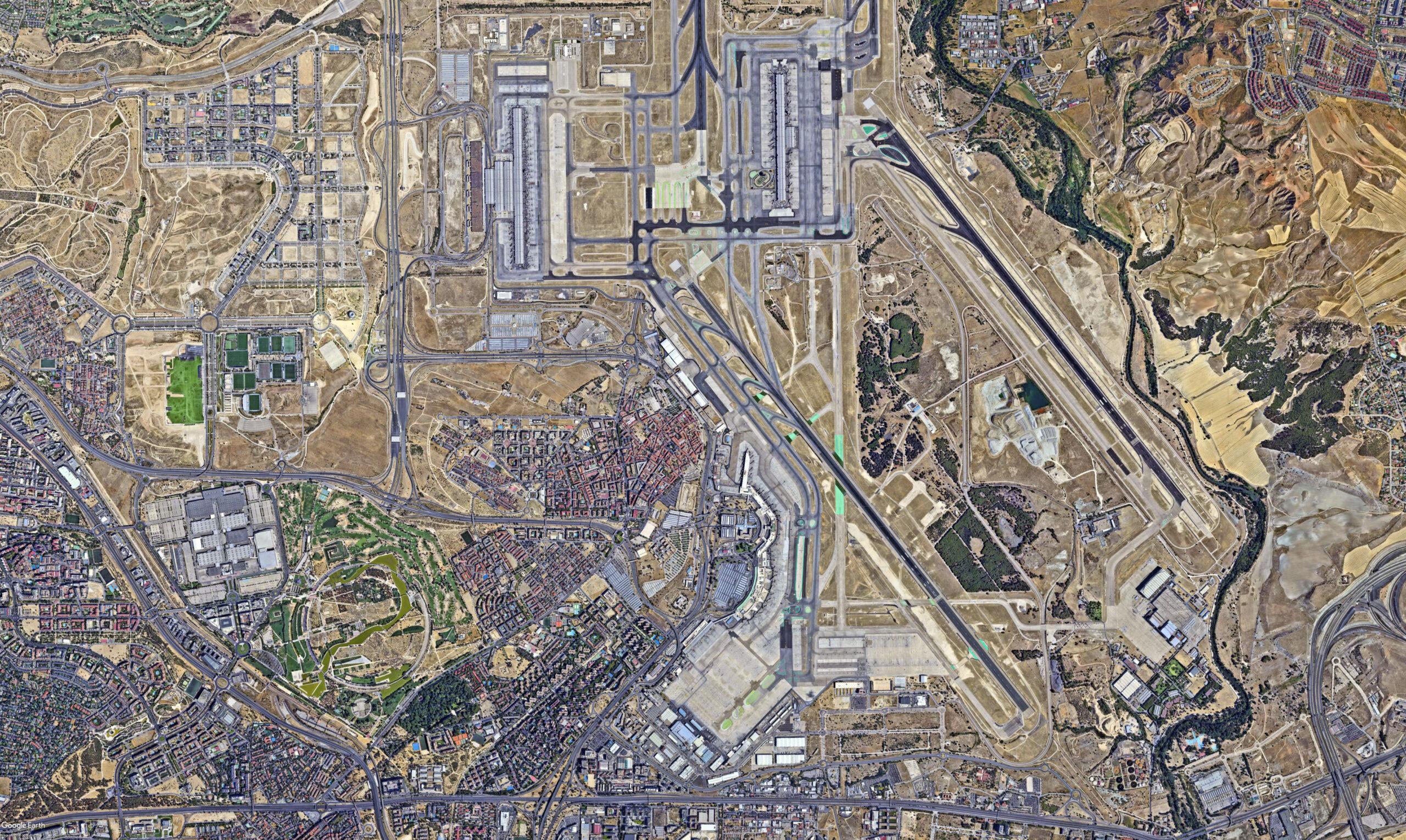 Vista aérea del distrito de Barajas